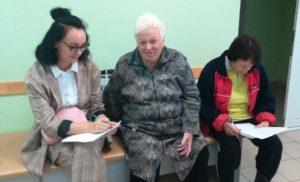 Мониторинг и опрос в медицинской организации поселка Крюково