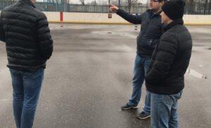 Мониторинг хоккейной коробки на стадионе «Гидросталь»