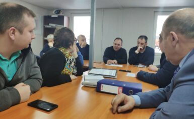 Совещание о ходе  проведения работ по рекультивации полигона ТБО «Кулаковский»